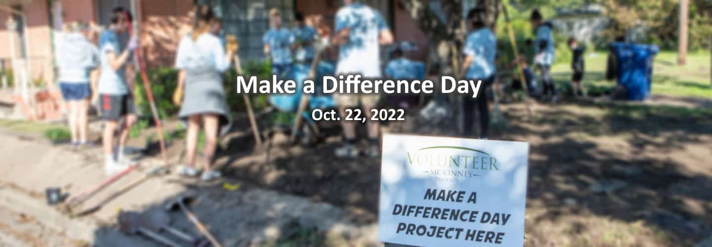 Make a Difference Day - yard work project